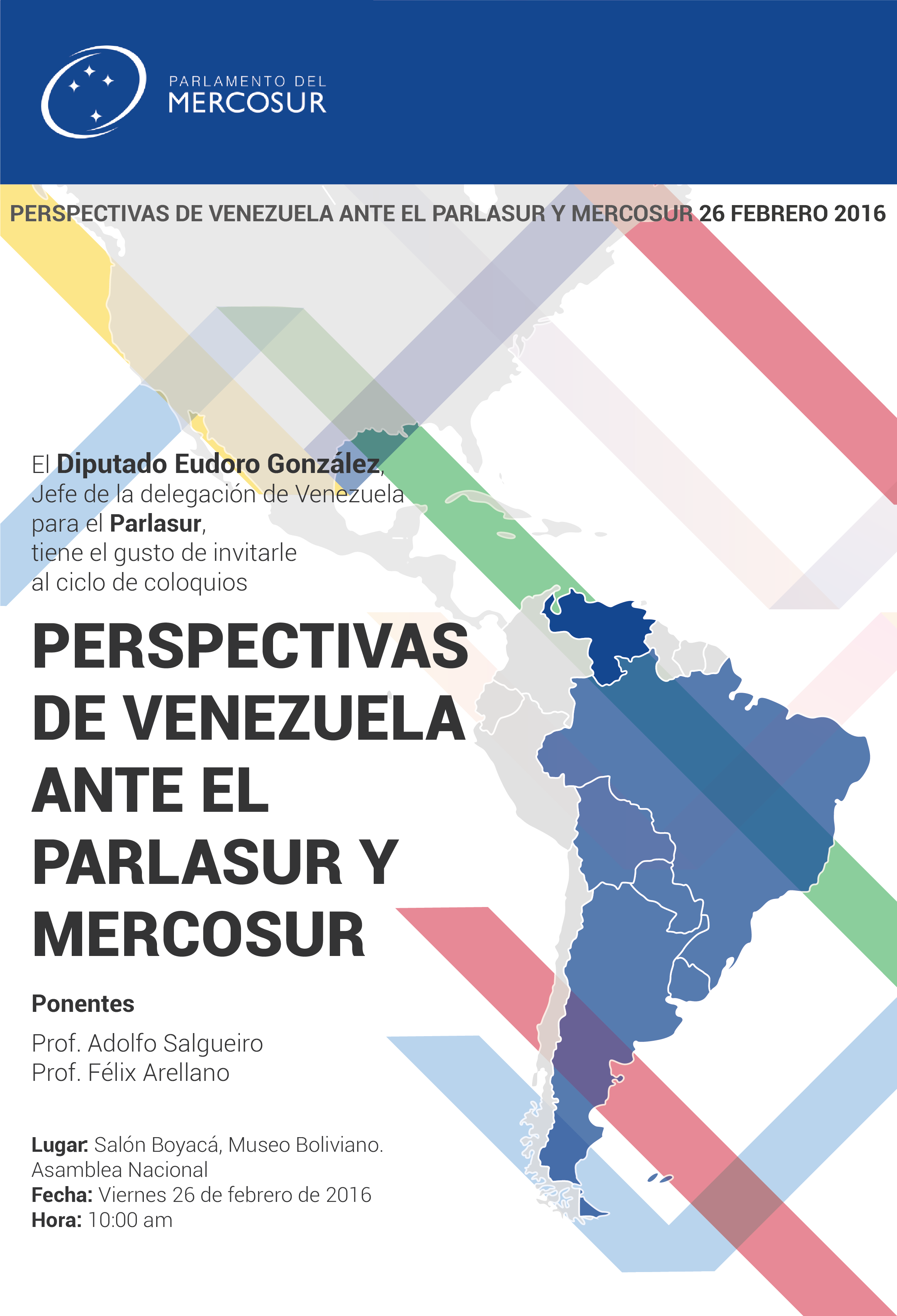 Poster for Mercosur Parliament event
