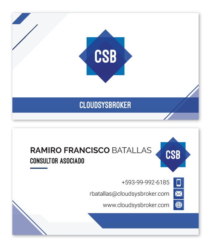 Business cards for Cloudsysbroker